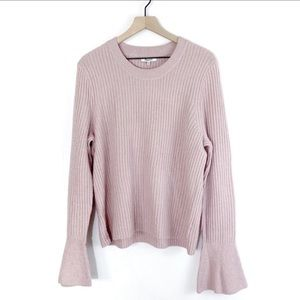 Madewell Iced Rose Bell Sleeve Knit Sweater ✨NWT✨